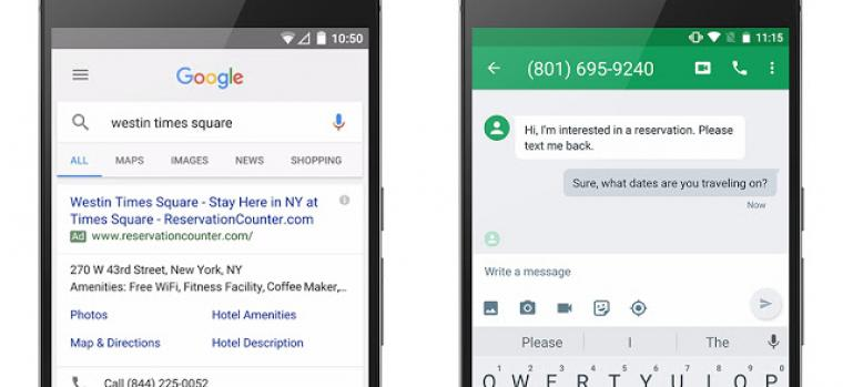 Google AdWords Introduces 'Click to Message' Ad Extension